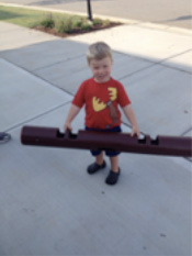 Child holding ViPR