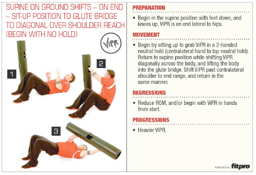 Superficial Front Line ViPR Exercise 1