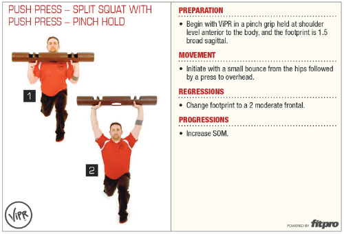 Push Press – Split Squat