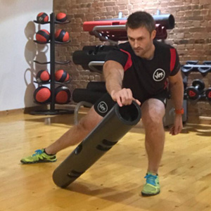 Jake Duhon performing ViPR exercise