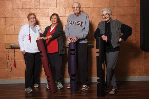 Seniors workout with ViPR